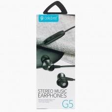 Наушники вакуумные с микрофоном Celebrat G5