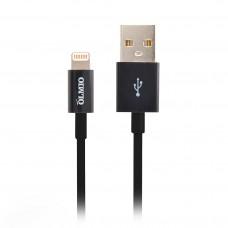 Кабель MFI USB 2.0-Apple iPhone/iPod/iPad с разъемом 8pin, 1м, черный, OLMIO