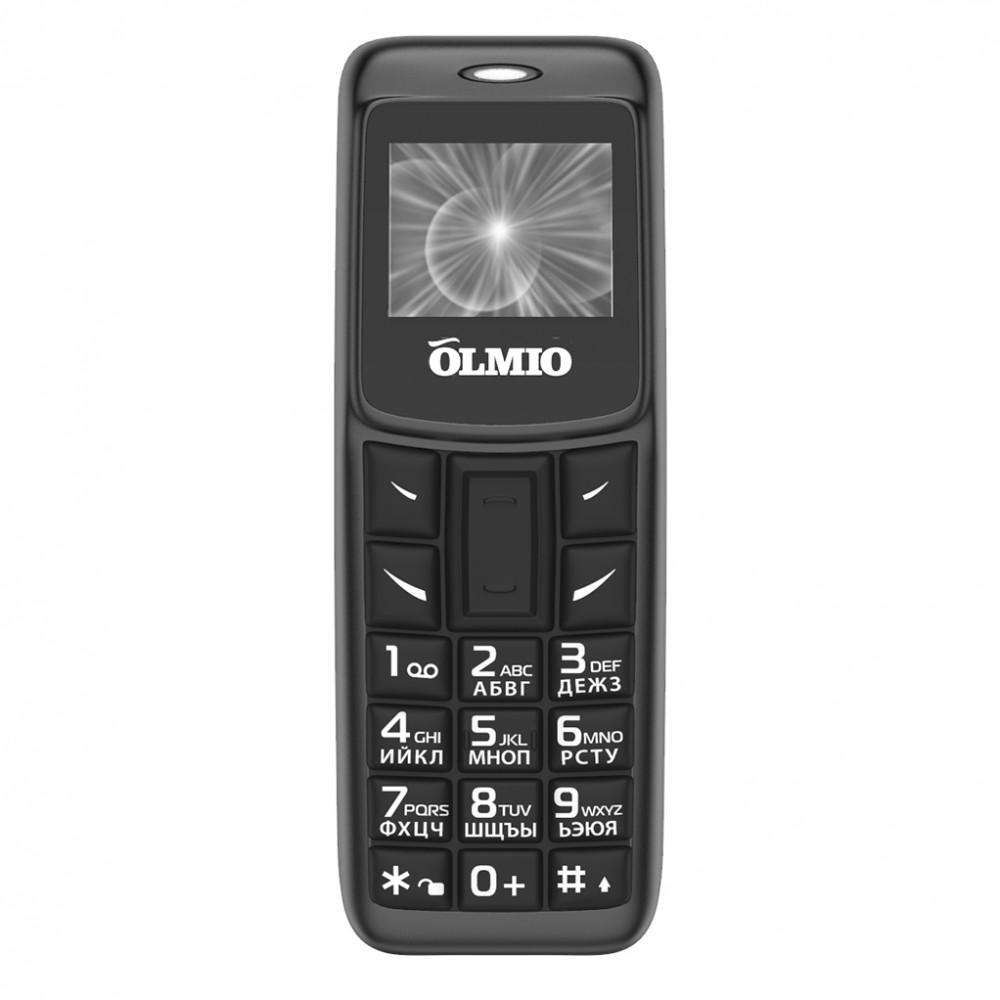 Сотовый телефон OLMIO A02 (черный)