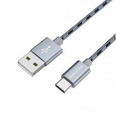 Кабель BOROFONE BX24 Ring, USB-Type-C, 3А, серый