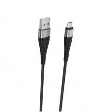 Кабель BOROFONE BX32 Munificent Data Cable USB-microUSB, 5А, черный