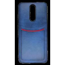 Клип-кейс ILEVEI XIAOMI REDMI 8, с визитницей (синий)