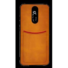 Клип-кейс ILEVEI XIAOMI REDMI 8, с визитницей (коричневый)