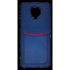 Клип-кейс ILEVEI XIAOMI REDMI NOTE 9 PRO, с визитницей (синий)