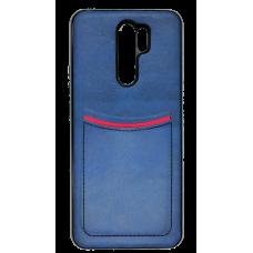Клип-кейс ILEVEI XIAOMI REDMI 9, с визитницей (синий)
