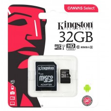 Карта памяти Kingston 32Gb MicroSDHC class 10 100Mb/s
