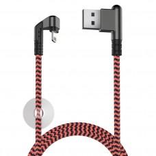 Кабель X-Game Neo USB 2.0 - Lightning, 1.2м, 2.1А, игровой, угловой USB (А) OLMIO