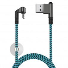 Кабель X-Game Neo USB 2.0 - microUSB, 1.2м, 2.1А, игровой, угловой USB (А) двухст micro OLMIO