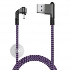 Кабель X-Game Neo USB 2.0 - Type-C, 1.2м, 2.1А, игровой, угловой USB (А) OLMIO