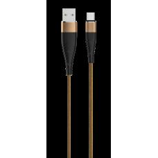 Кабель SOLID, USB 2.0 - microUSB, 1.2м, 2,1А, усиленный, цвет капучино, OLMIO