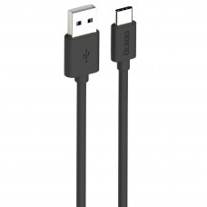 Кабель USB 2.0 - USB type-C, 3м, чёрный, OLMIO,