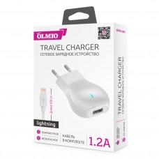 СЗУ OLMIO USB, 1.2А, +lightning кабель