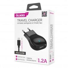 СЗУ OLMIO USB, 1.2А, +microUSB кабель