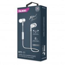 Наушники OLMIO BTE-05 внутриканальные беспроводные, Bluetooth, белые