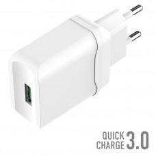 СЗУ OLMIO USB, 18W, 3A, Quick Charge 3.0