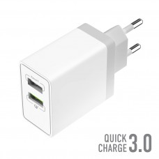 СЗУ OLMIO 2USB, 30W, 5.4A, Quick Charge 3.0 Smart IC